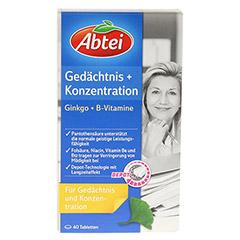 ABTEI Gedächtnis + Konzentration (Ginkgo + B-Vitamine) 40 Stück - Vorderseite