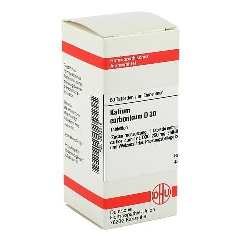 KALIUM CARBONICUM D 30 Tabletten 80 St�ck