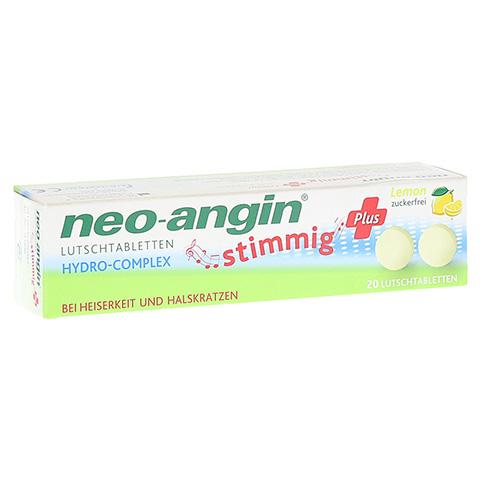 NEO ANGIN stimmig Plus Lemon Lutschtabletten 20 St�ck