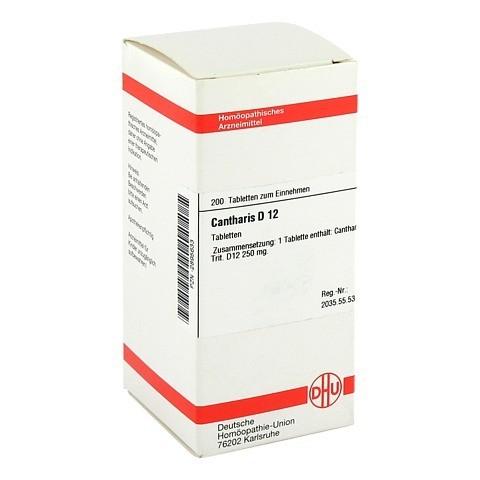 CANTHARIS D 12 Tabletten 200 St�ck N2