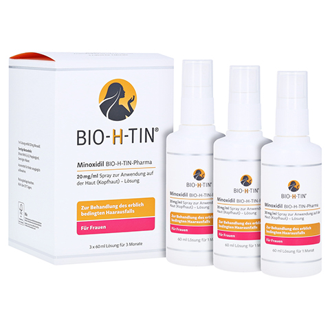 Minoxidil BIO-H-TIN-Pharma 20mg/ml Frauen und M�nner 3x60 Milliliter