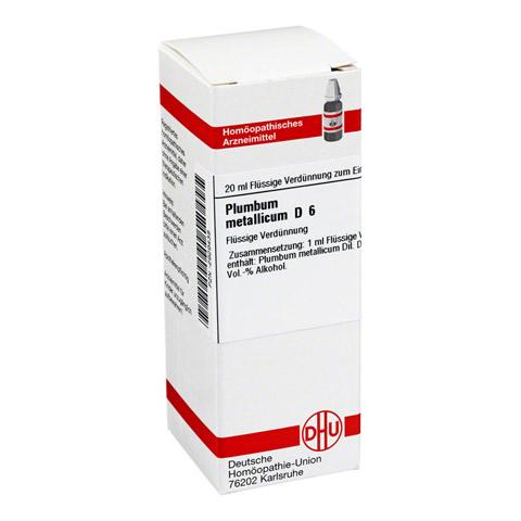 PLUMBUM METALLICUM D 6 Dilution 20 Milliliter N1