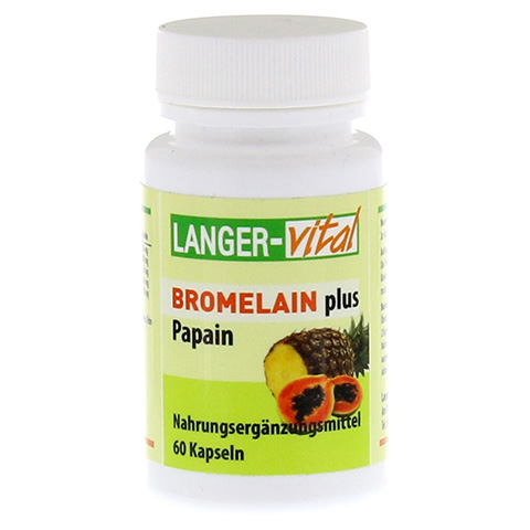 BROMELAIN 160 mg+Papain 160 mg Tg.Kapseln 60 Stück