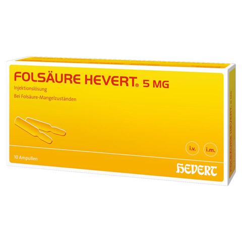 FOLSÄURE HEVERT 5 mg Ampullen 10 Stück N2