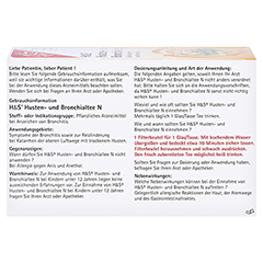 H&S Husten-und Bronchialtee N 20 Stück - Rückseite