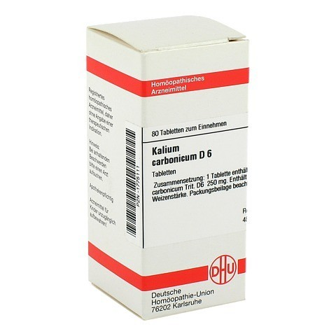 KALIUM CARBONICUM D 6 Tabletten 80 St�ck N1