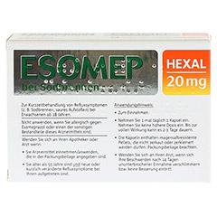 ESOMEP HEXAL bei Sodbrennen 20mg 14 Stück - Rückseite