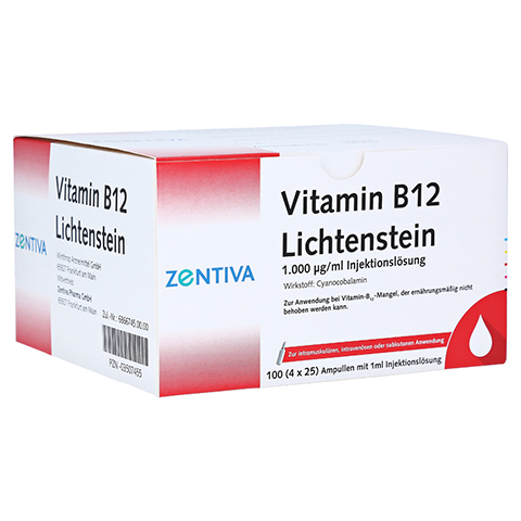 Vitamin B12 1.000 µg Lichtenstein Ampullen 100x1 Milliliter