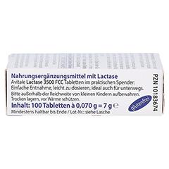 LACTASE 3.500 FCC Tabletten im Klickspender 100 Stück - Rechte Seite