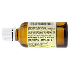 MERIDIANKOMPLEX 6 Tropfen zum Einnehmen 50 Milliliter N1 - R�ckseite