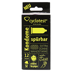 CYCLOTEST Kondome Sp�rbar 12 St�ck - Vorderseite