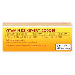 VITAMIN D3 Hevert 2.000 I.E. Tabletten 60 Stück - Oberseite