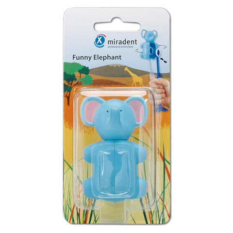 MIRADENT Kinderzahnbürstenhalter Funny Elefant 1 Stück