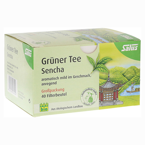 GRÜNER TEE Bio Salus Filterbeutel Großpackung 40 Stück