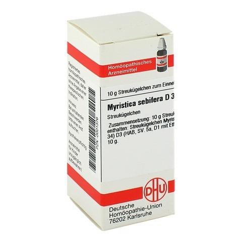 MYRISTICA SEBIFERA D 3 Globuli 10 Gramm N1