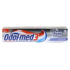ODOL MED 3 Samtweiß Zahnpasta 100 Milliliter - Vorderseite