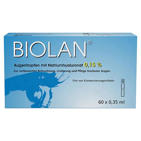 BIOLAN Augentropfen Einzeldosispipetten 60x0.35 Milliliter