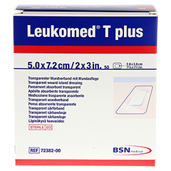 LEUKOMED transp.plus sterile Pflaster 5x7,2 cm 50 Stück - Vorderseite