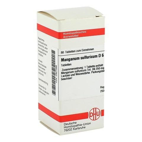 MANGANUM SULFURICUM D 6 Tabletten 80 Stück N1