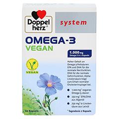 DOPPELHERZ Omega-3 vegan system Kapseln 60 Stück - Vorderseite