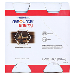 RESOURCE Energy Schokolade 4x200 Milliliter - Vorderseite