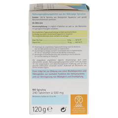 SPIRULINA 500 mg Bio Naturland Tabletten 240 Stück - Linke Seite