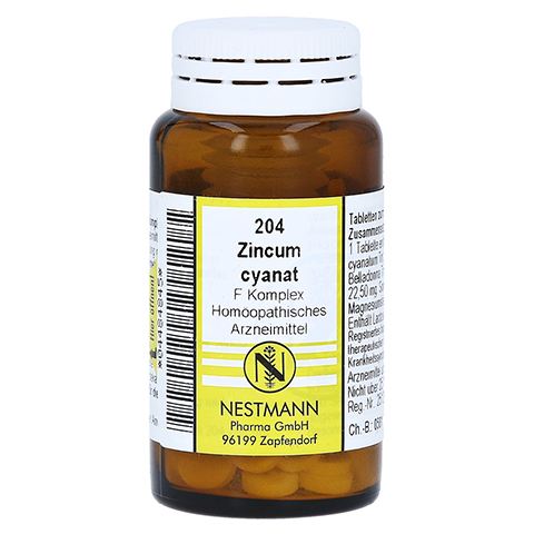 ZINCUM CYANATUM F Komplex Nr.204 Tabletten 120 St�ck N1