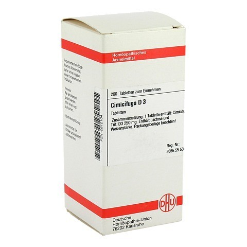 CIMICIFUGA D 3 Tabletten 200 Stück N2