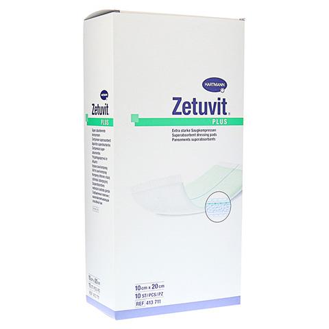 ZETUVIT Plus extrastarke Saugkomp.ster.10x20 cm 10 Stück