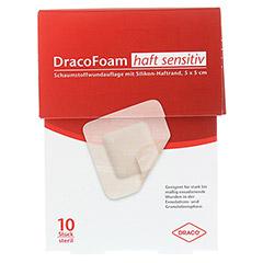 DRACOFOAM Haft sensitiv Schaumst.Wund.5x5 cm 10 Stück - Vorderseite