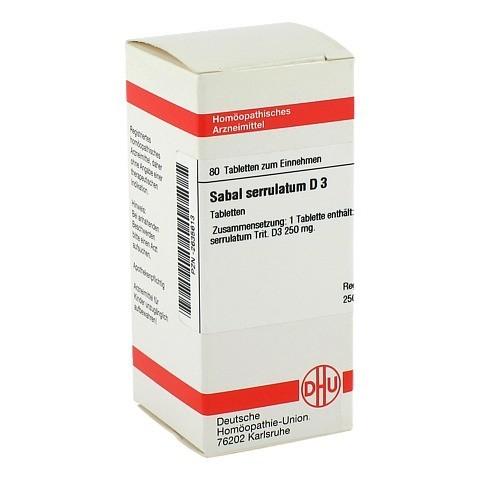 SABAL SERRULATUM D 3 Tabletten 80 Stück N1