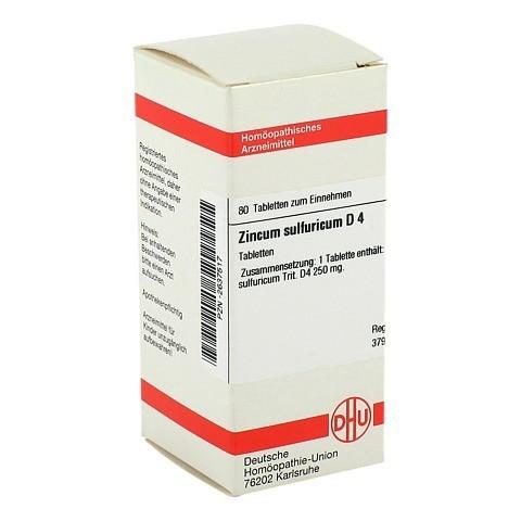 ZINCUM SULFURICUM D 4 Tabletten 80 St�ck N1
