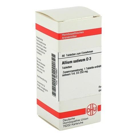 ALLIUM SATIVUM D 3 Tabletten 80 St�ck N1