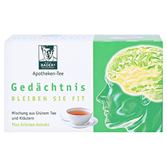 BADERS Apotheken Tee Gedächtnis Filterbeutel 20 Stück - Vorderseite
