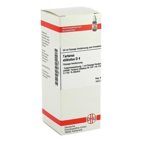 TARTARUS STIBIATUS D 4 Dilution 50 Milliliter N1