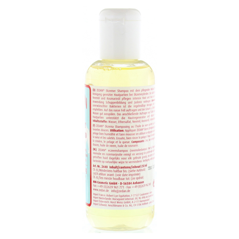 erfahrungen zu zedan ekzemer shampoo m neem l pferd hund 250 milliliter medpex versandapotheke. Black Bedroom Furniture Sets. Home Design Ideas