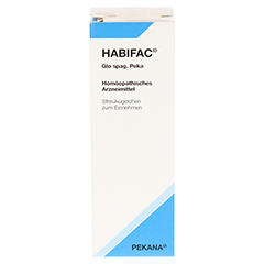 HABIFAC Glo spag.Peka Globuli 10 Gramm N1 - Rückseite