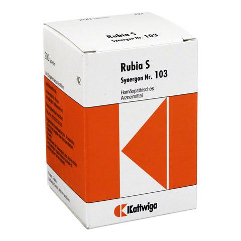 SYNERGON KOMPLEX 103 Rubia S Tabletten 200 Stück