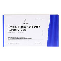 ARNICA PLANTA tota D 15/Aurum D 10 aa Ampullen 8x1 Milliliter N1 - Vorderseite