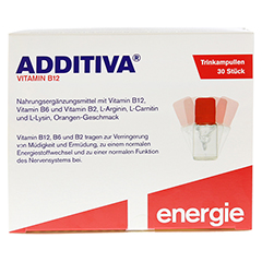 ADDITIVA Vitamin B12 Trinkampullen 30 Stück - Vorderseite