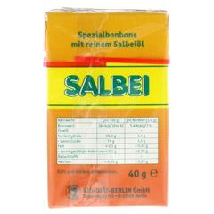 SALBEI HALS und Hustenbonbons 40 Gramm - Rückseite