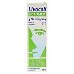 LIVOCAB ECTOMED Nasenspray 10 Milliliter - Rückseite