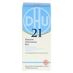BIOCHEMIE DHU 21 Zincum chloratum D 12 Tabletten 80 Stück N1 - Rückseite