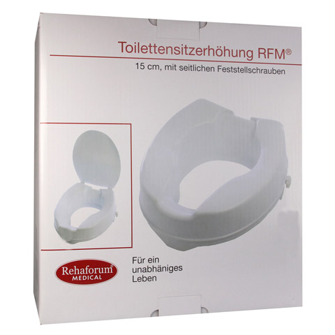 TOILETTENSITZERHÖHUNG RFM 15 cm mit Deckel 1 Stück