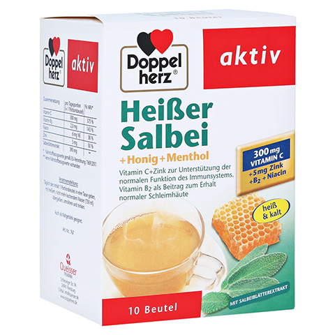 DOPPELHERZ hei�er Salbei+Honig+Menthol Granulat 10 St�ck
