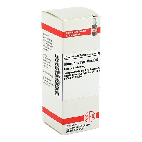 MERCURIUS CYANATUS D 6 Dilution 20 Milliliter N1