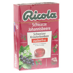RICOLA o.Z. Box Schwarze Johannisbeere Bonbons 50 Gramm