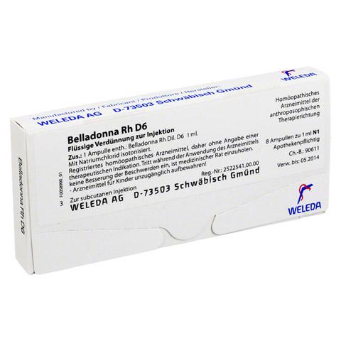 BELLADONNA RH D 6 Ampullen 8x1 Milliliter N1