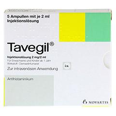TAVEGIL Injektionsl�sung 2 mg/2 ml Ampullen 5x2 Milliliter N1 - Vorderseite