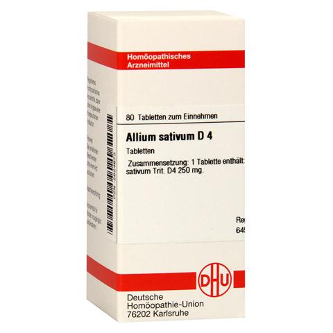 ALLIUM SATIVUM D 4 Tabletten 80 Stück N1